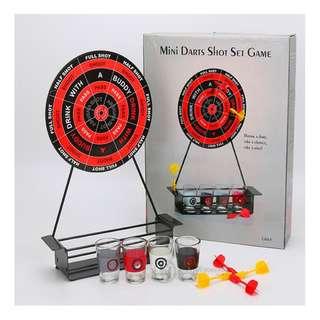 1629994 鐵靶飛標 酒具 連玻 璃杯 磁性飛標 助興 酒具 Table games wine
