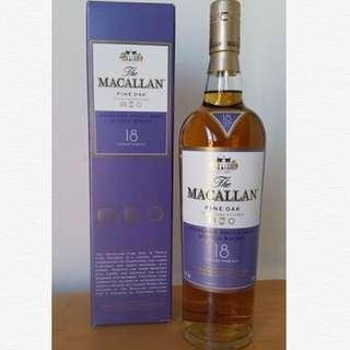 Macallan 18 Fine Oak