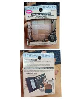 Physicians Formula Shimmer Strips All in1 Custom Nude Palette for Face&Eyes Natural Nude 6240