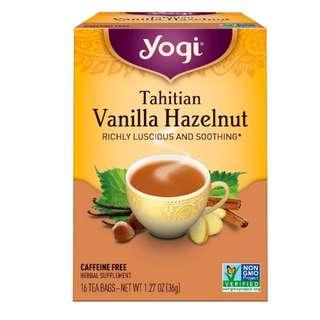 Yogi Tea, Tahitian Vanilla Hazelnut, Caffeine Free, 16 Tea Bags, 1.27 oz (36 g)