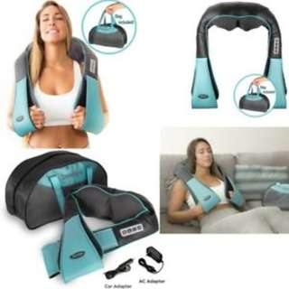 674. InvoSPA  Back Neck and Shoulder Massager with Heat - Deep Tissue 3D Kneading Pillow Massager for Neck, Back, Shoulders, Foot, Legs – Electric Full Body Massage, Relieve Muscle pain - Office, Home & Car
