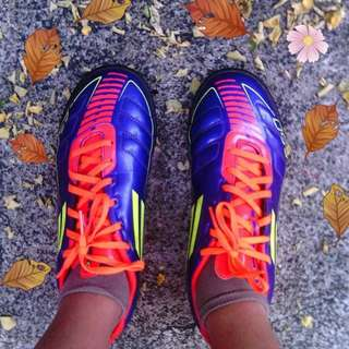 Adidas Blue and Orange Rubber Shoes