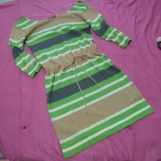 CLEARANCE SALE! Knitted Stripes Dress