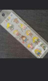 Sanrio 1991 rururugakuen Ruru 貼紙