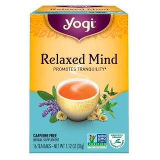 Yogi Tea, Relaxed Mind, Caffeine Free, 16 Tea Bags, 1.12 oz (32 g)