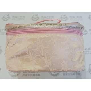 🚚 【黑皮TIME】SABON-花漾旅行隨身袋(粉,公司貨)G01G01112