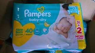 Pampers Baby Dry NewBorn 40pcs