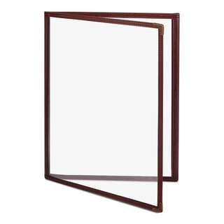 Clear Menu Cover Restaurant A4 3 Pockets/6 Pages Brown