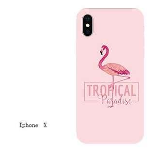 火烈鳥iphoneX 保護套 5.8吋 2款選 $60/件