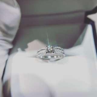 18K白金鑽石戒指 YR001129