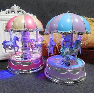 Romantic music light dome carousel music box Creative music box home decor birthday gifts