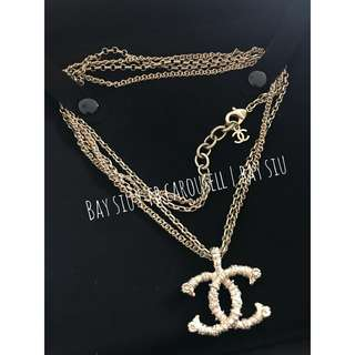 99新 襯衫容易 Chanel Double Chain Necklace (18C)