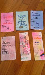 Inspirational quotes bookmarks