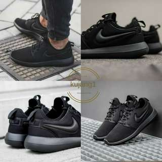 SEPATU NIKE ROSE RUN 2 SNEAKERS CASUAL 2018 FULL HITAM
