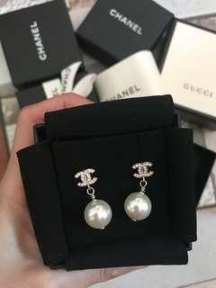 Chanel 珍珠耳環 earrings