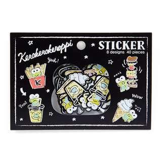 Sanrio 日本正版 Keroppi 青蛙仔 快餐系列 袋裝 貼紙