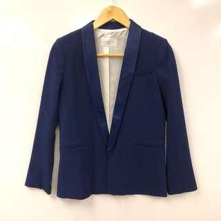 Sandro blue suit jacket size 36