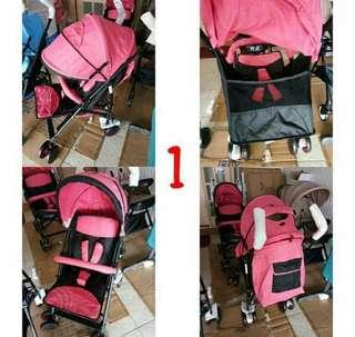 Stroller 0-36m pink brand new cod