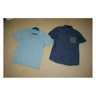 Short-Sleeve Casual Shirts Set | Small S