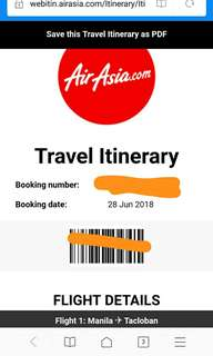 Air Asia: MNL to TAC
