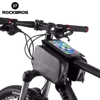 Smartphones Touch Screen Waterproof Bicycle Frame Front Tube Bag Double Pouch for