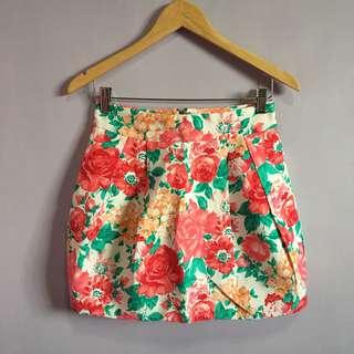Zara Flower Skirt w/ pocket both sides