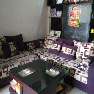 Sofa 5 Seater Good Quality+ Meja Kerang