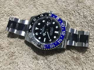 全新 勞力士 Rolex GMT Master II 116710 BLNR Batman Full Set