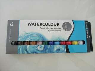 Watercolor paints (12 color)
