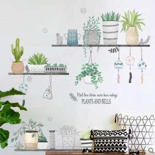 🚚 文藝清新植物風防水壁貼