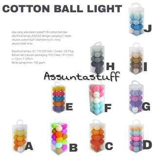 COTTON BALL LIGHT [20 BALL]
