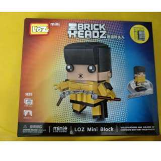Loz Mini Block Brick Headz 李小龍 Bruce Lee 1435