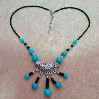 銅銀天河石頸項 翡翠 民族風 Copper x Silver x Crystal necklace handmade