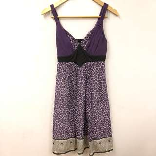 Anna sui purple vest dress size 2