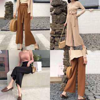 Ribbon Tie Up Basic Culottes