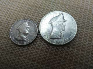 Phillipine 1 +1/2 peso Silver Coin 1947 Gem. Mac'Arthur