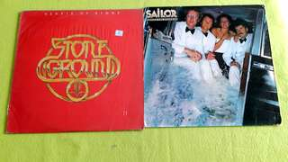 STONEGROUND . hearts of stone ● SAILOR . dressed for drowning ( buy 1 get 1 free )  Vinyl record