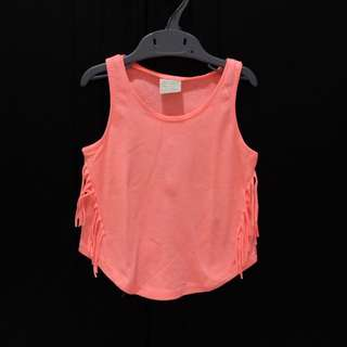 ZARA Kids Peach Frilly Top