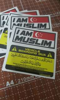 Vehicle Boarding Dua with I am Muslim set