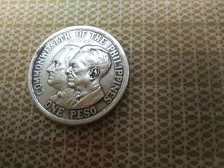 USA 1peso Phillipine Silver Coin.