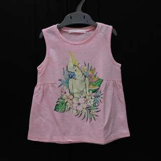 Gingersnaps Pink Parrot Top