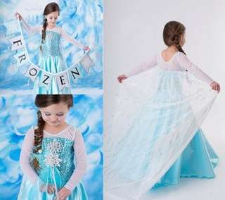 Princess Elsa Most Hot Frozen Blue Dress