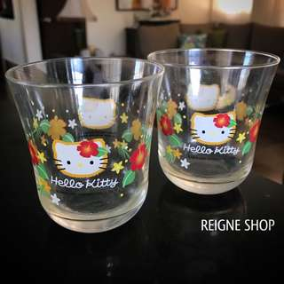 HELLO KITTY 2PCS GLASS