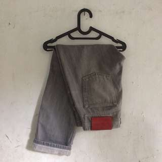 Naked & famous jeans denim selvedge grey