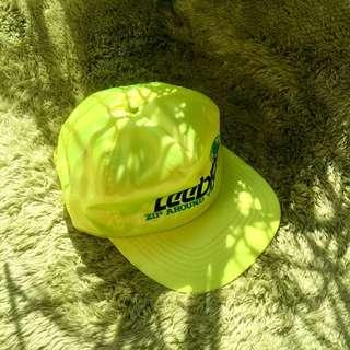 🚚 老品全新 螢光黃 亮面 棒球帽 明太子 628