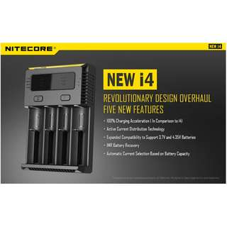 🚚 Nitecore New i4 Intellicharger Battery Charger (For Nearly all types of Rechargeble Battery)