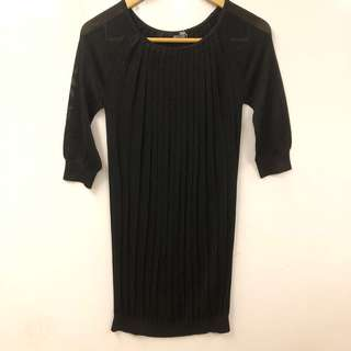 長身裙 Love Moschino metallic black dress size F36