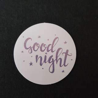 C11 Goodnight Calligraphy Sticker Stickers