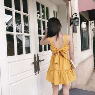Butterfly yellow dress