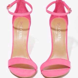 pink heels size 38